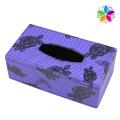 Пурпурная прямоугольная коробка для ткани из искусственной кожи (ZJH073)