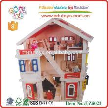 Spielzeug für Kinder hölzernes Puppenhaus