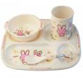 (BC-MK1009) Fashinable Design Reusable Melamine 4PCS Kids Cute Dinner Set