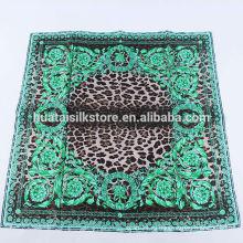 2014 новых продуктов зеленый Пейсли леопарда бренда моды роскошных женщин шарфы
