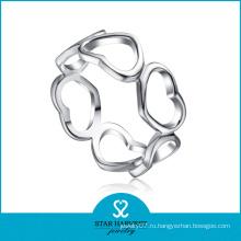 Модное кольцо из стерлингового серебра 925