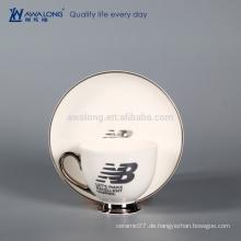 Name Kundenspezifische Logo-Druck-Porzellan-Schale, Kaffee-Tee-Schale für Großverkauf