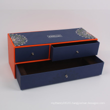 Customized Luxury Rectangle Cardboard Jewellery Gift Box Drawer Box