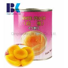 Confiable en lata de melocotón amarillo en almíbar