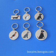 Sausage Jack Russell Schnauzer Dog Key Ring Dog Collar Tag Charms