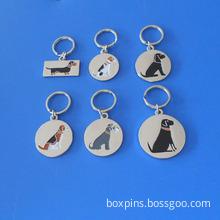 Sausage Jack Russell Schnauzer Dog Key Ring Dog Collar Tag Charms