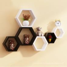 Деревянные шестигранные навесные плавающие полки декор стен стеллажи детская комната DIY украшения