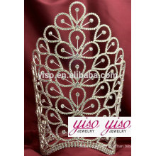 Gran tiaras de piedra tiara de diamantes de imitación y varita conjunto