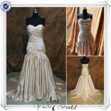 RSW152 Champagne Detachable Train Wedding Party Dresses