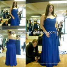Free shipping!A line sweetheart pleats long chiffon blue bridesmaid dress cheap JBD023
