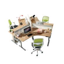 Эргономичный офисный стол здоровые колонки электрические подъемные с регулируемой стальной рамой