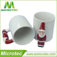Taza de cerámica de la sublimación más popular para la taza de la sublimación de la Navidad