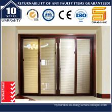 Doble Acristalamiento Exterior Vidrio Puerta Corrediza Aluminio / Aluminio