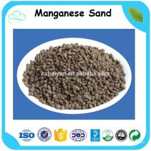 Haute teneur en MnO2 contenu filtrant l'eau médias sable de manganèse