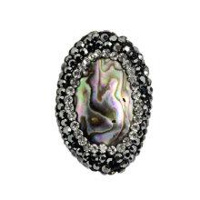 Moda Abalone Shell Cristal Bead Acessório Jóias Pulseira Bijoux