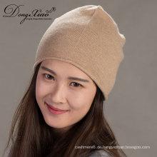 Großhandel Benutzerdefinierte Slouchy Cashmere Beanie Herren Hüte Woman'Shats Winter Hüte
