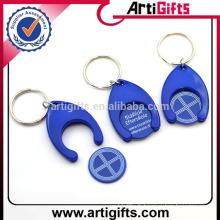 Porte-clés en plastique promotionnel bon marché