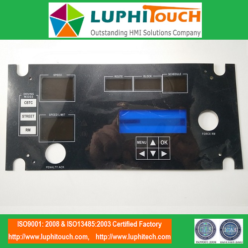 Deadfront Window LGF Backlight Membrane Keypad