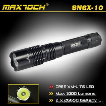 Maxtoch SN6X-10 1000 lúmenes linterna de largo alcance linterna 18650