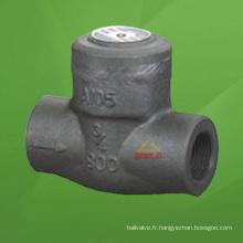 Clapet anti-retour en acier forgé en acier forgé (GAH64H)
