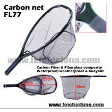 Rede de aterragem de carbono da pesca com mosca