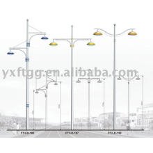 6-12meters dingle o brazo doble solar led street pole