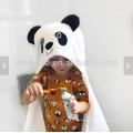 Детское полотенце с капюшоном животных панда лицо персонализированные большой размер