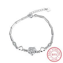 Art- und Weise925 Sterlingsilber-Herz-Form-Armband-heiße Verkaufs-westliche Zusatz-Schmucksachen