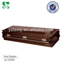 caixão de profissional alças cor de bronze com interior de cetim