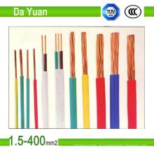 Fio elétrico isolado PVC do condutor do cobre do UL 600V Thw