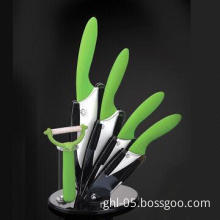 6-pc Ceramic Knife Set with ZRO2 White Color with Matte Finish Blade