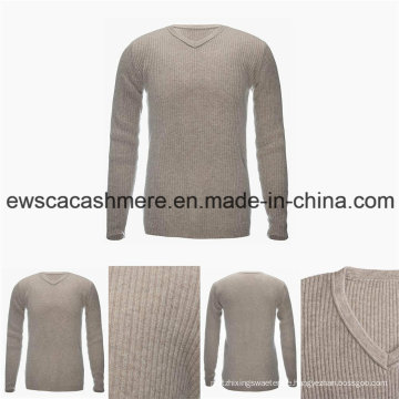 Männer V-Ausschnitt Grundstil 100% Bestnote Pure Cashmere-Pullover