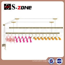 new design golden aluminium wall mounted clothes drying racks for balcony