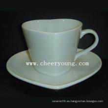 Taza y platillo de cerámica (CY-P520)