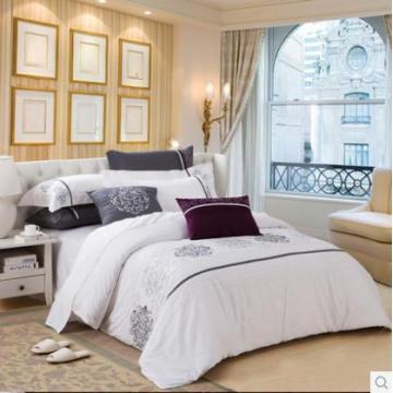 Canasin 5 звездочный отель Атлас кровати постельное белье 100% хлопок белый