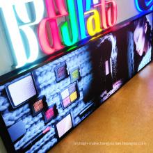 Hot sale advertising 3d led lightbox frameless display for Shop / Bus Stop / Cinema