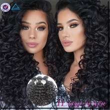One Donor Virgin Hair Weft Large Stock human hair curly hair pieces