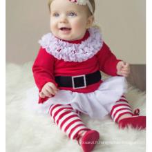 Beaux vêtements de Noël de filles de bébé d'enfants de XMAS