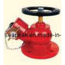 Válvula de aterrizaje del tipo oblicuo de la fundición de arena del latón