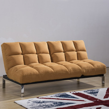 Convertible 2-Seater Sleeper Fabric Futon Sofa Bed
