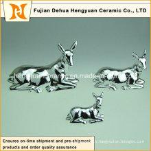 Sika Deer Ceramic Money Bank pour cadeau de Noël pour enfants