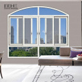 White aluminum sliding window with mosquito screen