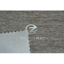 Two-Tone Diamond Shaped Linen Bonded with Knitted Fabric for Sofa Use