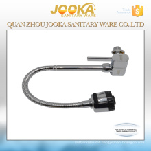 Square design cold water kitchen tap with 45cm flexible pipe