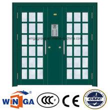 Double French Exterior Security Steel Glass Door (W-GD-28)
