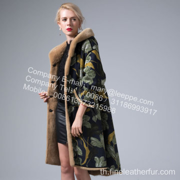 Mink Reversible Mink Women Coat ในฤดูหนาว