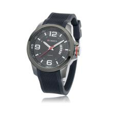 rubber strap quartz watch for business men waterproof wristwatch