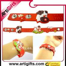 Joli bracelet de poignet enfant personnalisé pvc