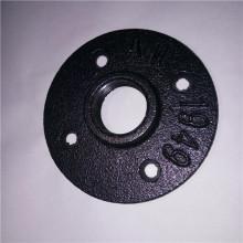 """BSP 3/4 """"flange da pavimento in ghisa malleabile nera"""