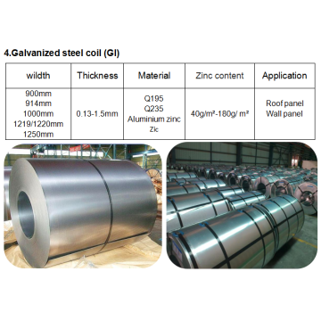 Steel material galvanized coil delivery time 15 days